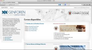 Campus de Cursos de Genética Forense (GENFOREN)